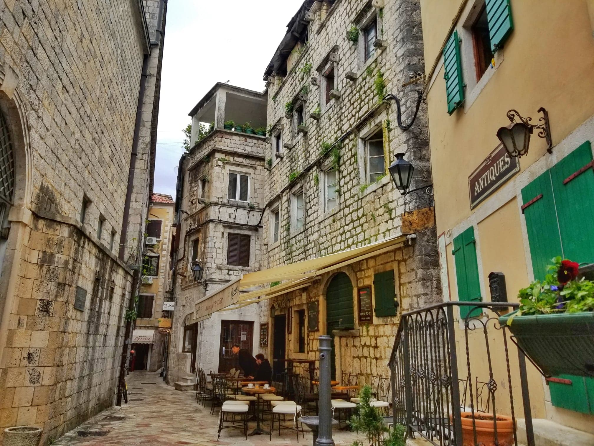 streets of old Kotor town - sightseeing