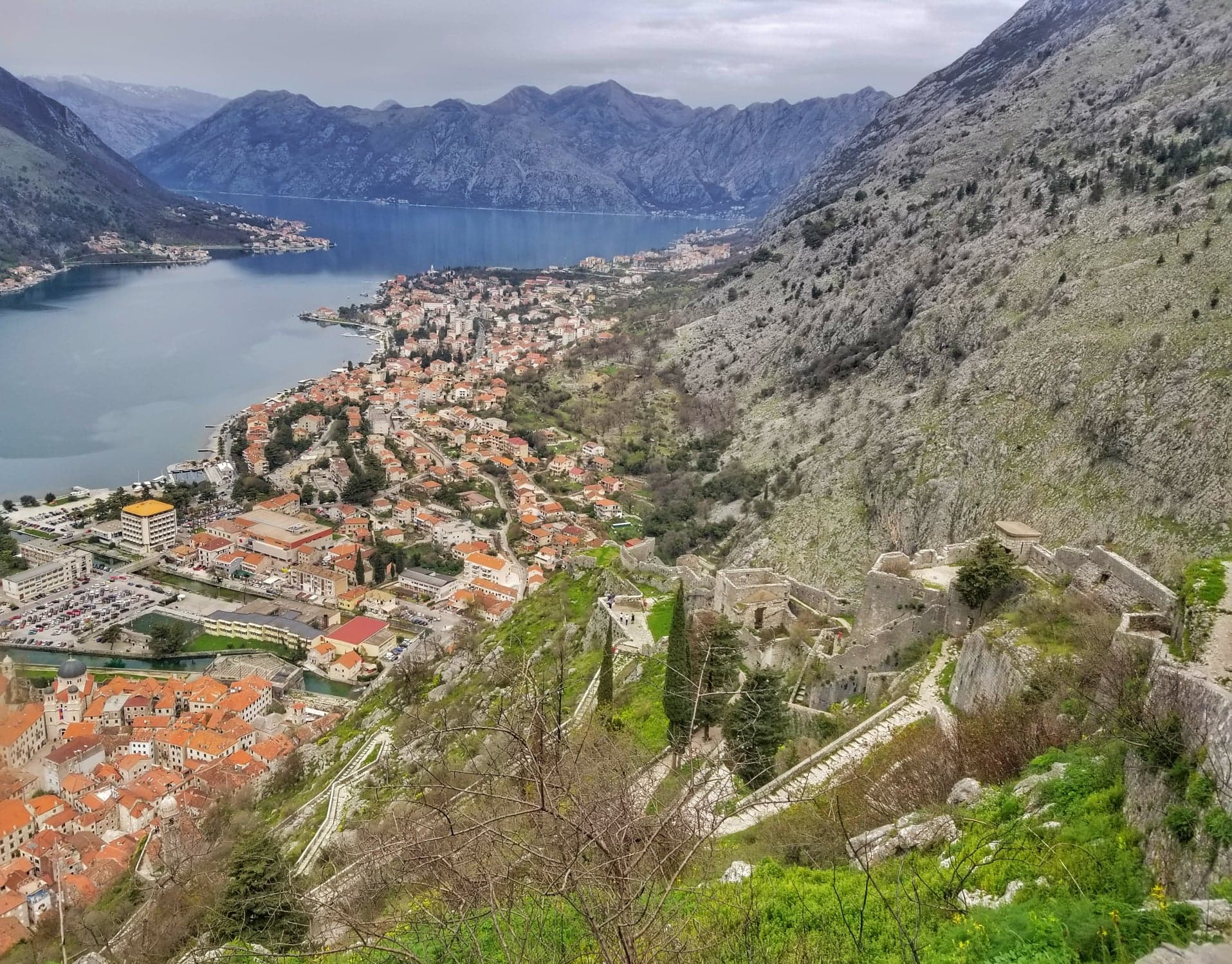 view of castle walls in Kotor - things to see