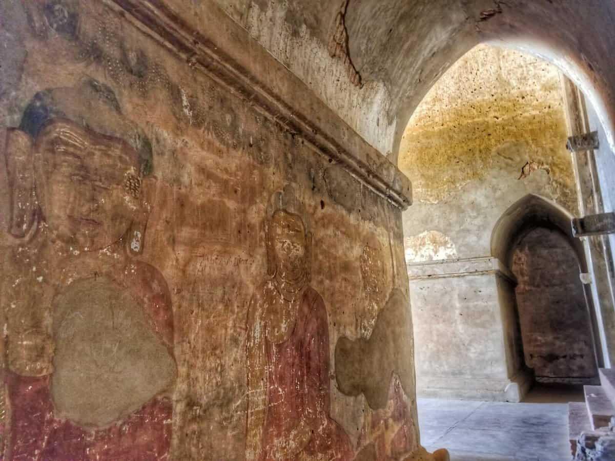 Bagan Temples - Sulamani interior wall artwork