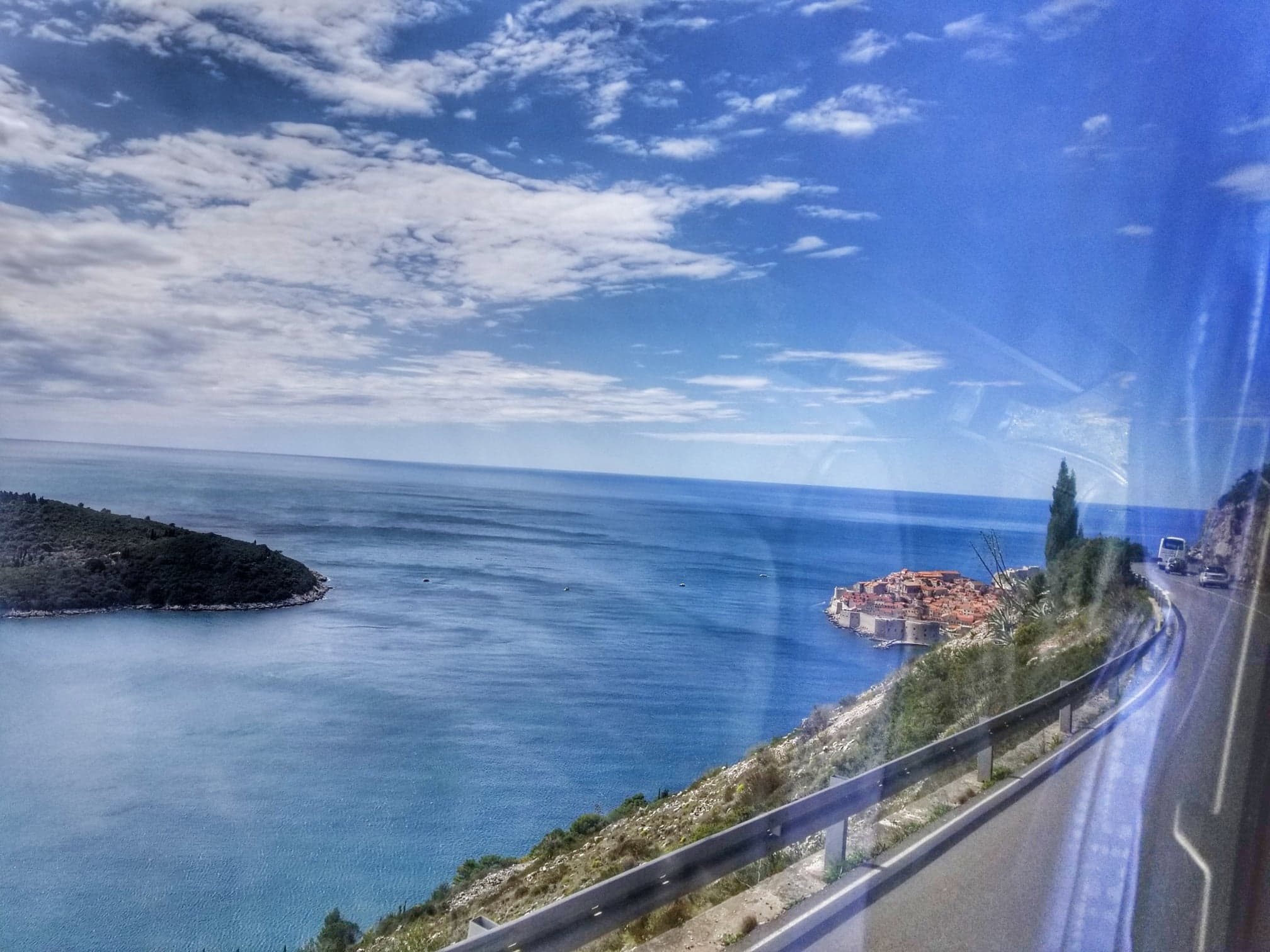 Bus ride to Dubrovnik