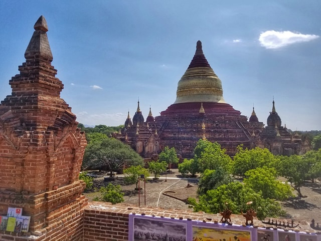 Dhammayazika view from Pagoda860 - Bagan Temple