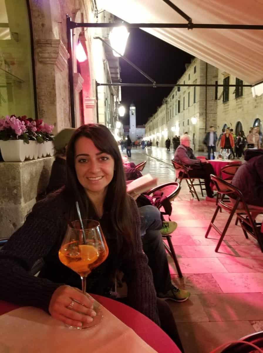 Evening drinks in Olt Town Dubrovnik