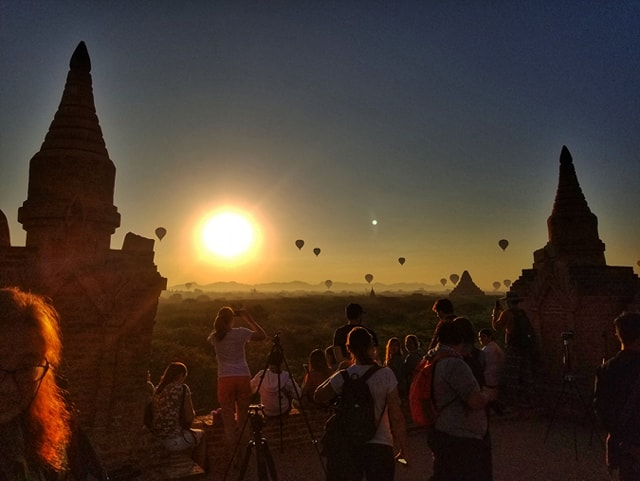 Myanmar Bagan Temples Sunrise View