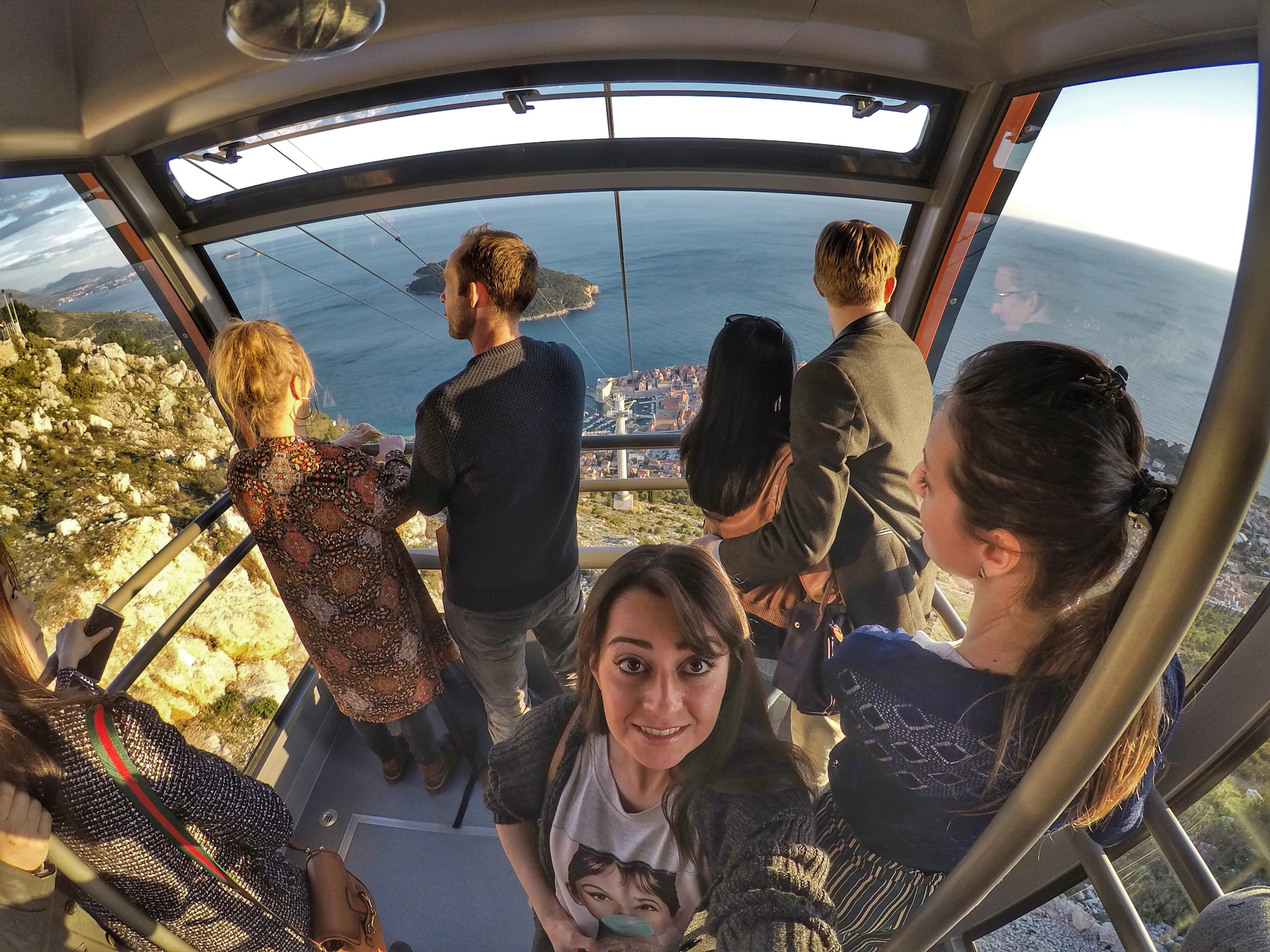 cable car ride to Srd hill - One Day In Dubrovnik