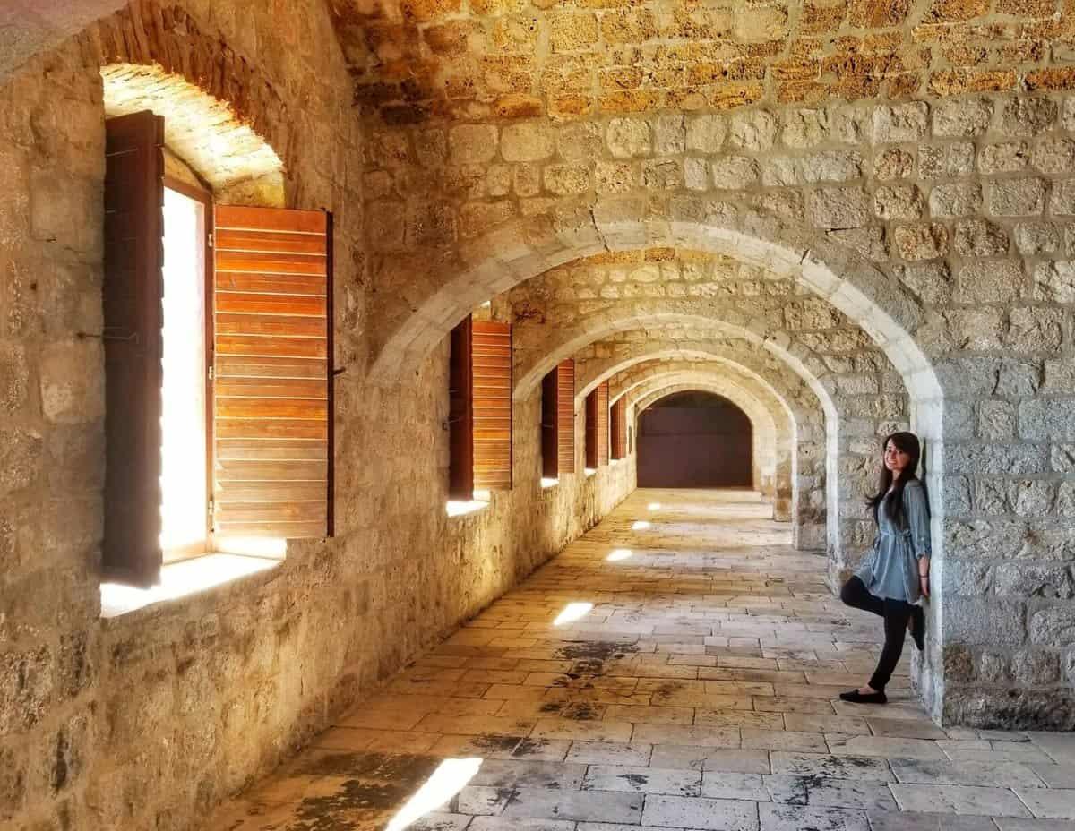 inside Lovrijenac fortress - Visiting Dubrovnik in a day