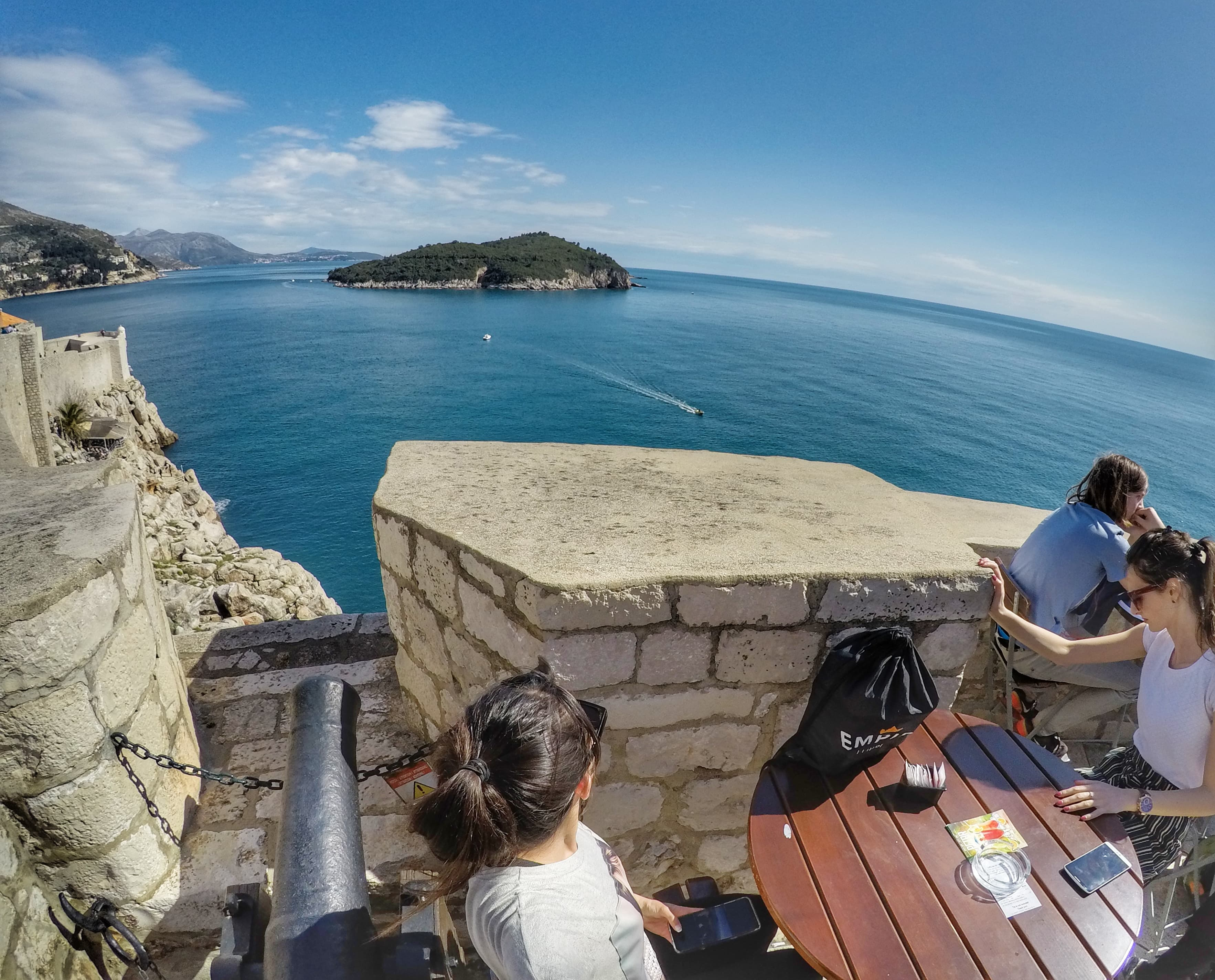 one day in Dubrovnik - Bar on top of City Wall