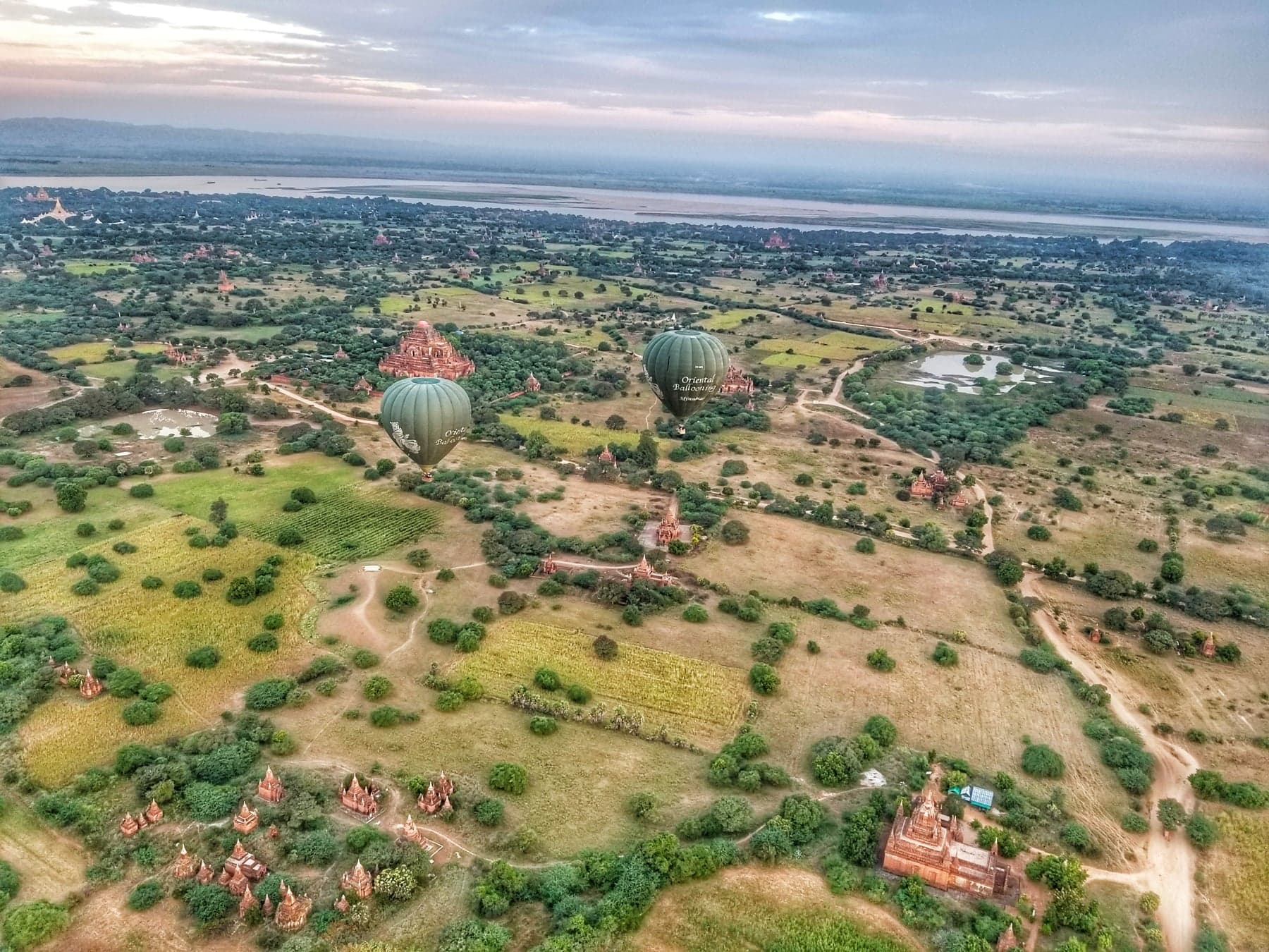 Bagan, Myanmar from above