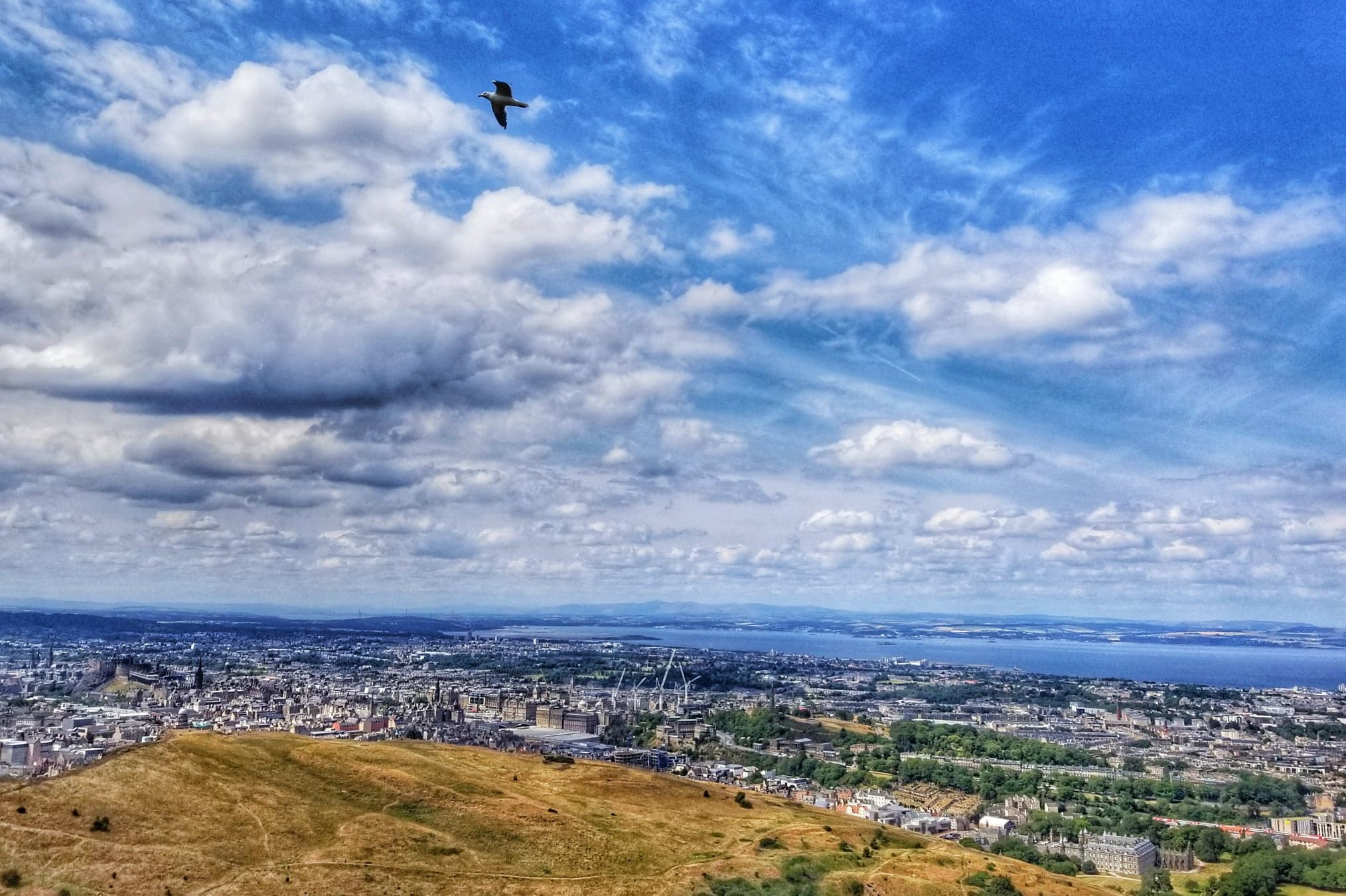 places to visit in Edinburgh - Aurthor's Seat views