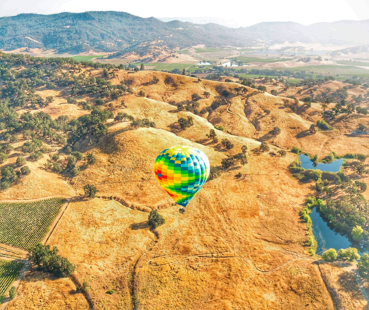 romantic getaways Northern California - Napa Hot Air Balloon Ride