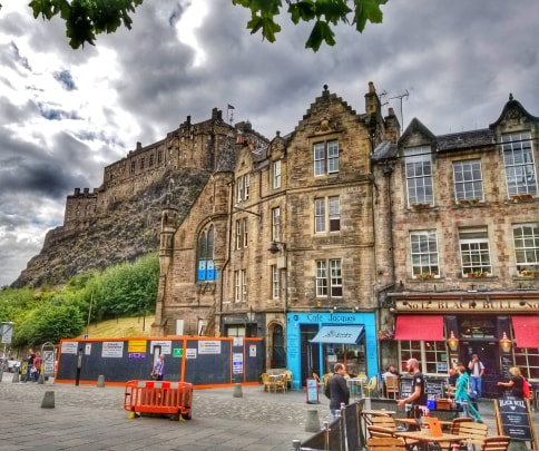 two days in Edinburgh - Grassmarket