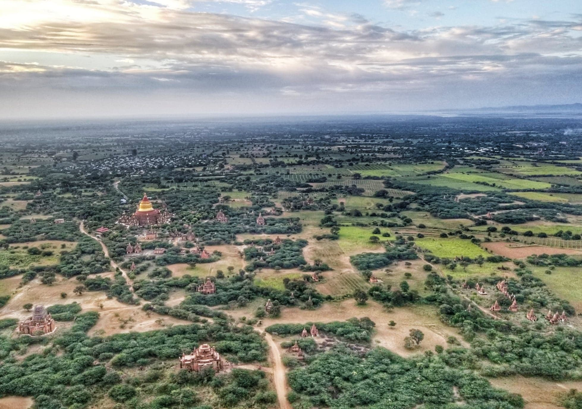 Bagan hot air balloon - view on ride