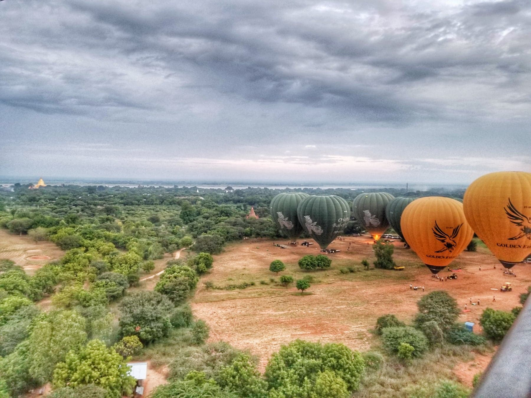 Burma hot air balloon