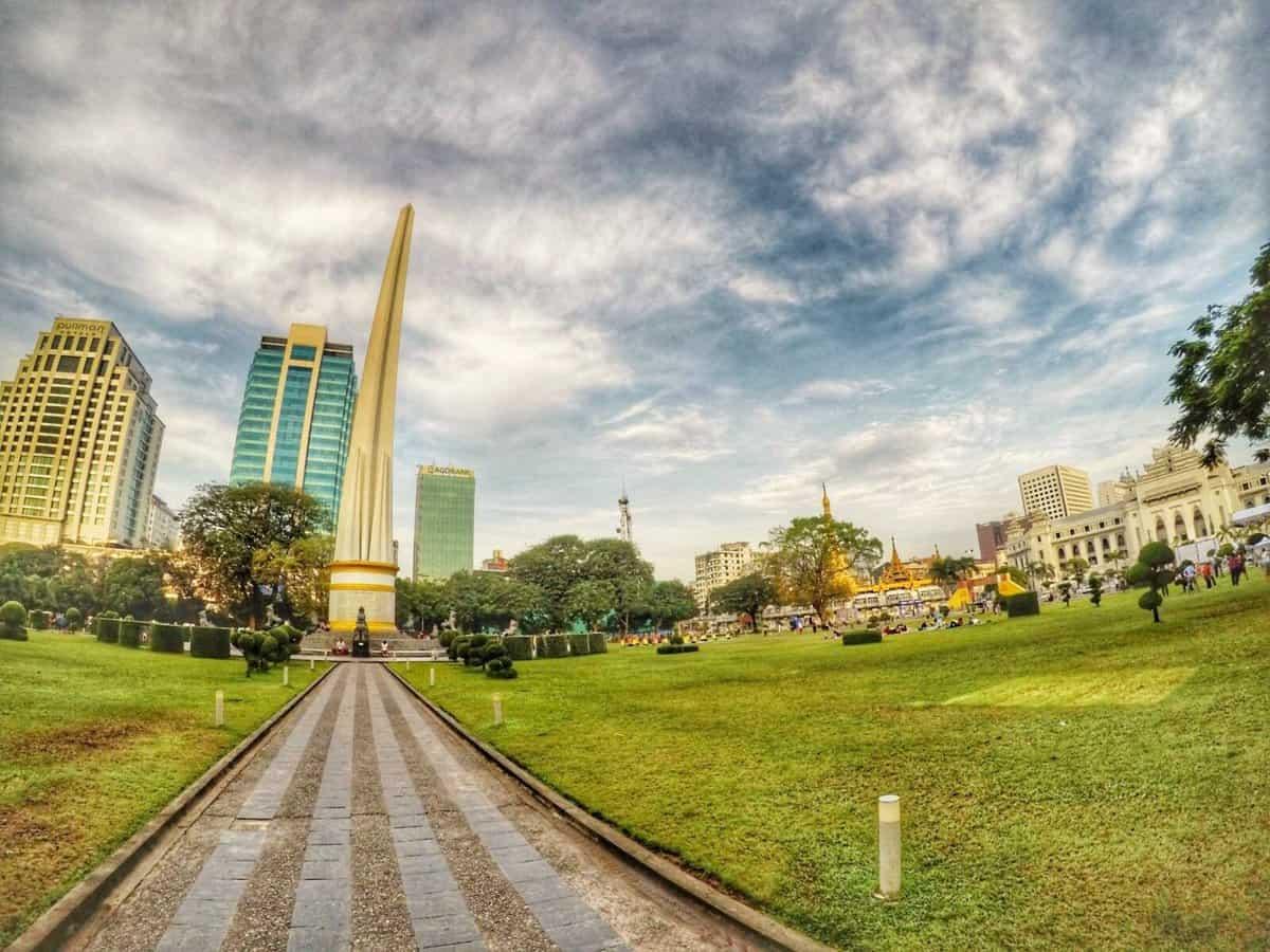 Yangon Burma - Maha Bandula Park
